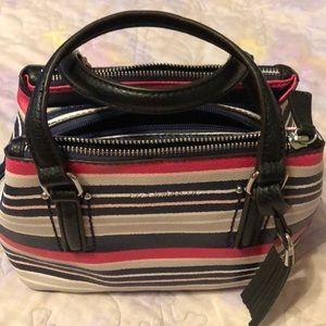 Liz Claiborne Cute Navy/pink striped handbag